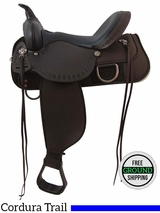 "SOLD 2016/04/07 PRICE REDUCED! 15"" High Horse Magnolia Wide Trail Saddle 6909, Floor Model ushh3409 *Free Shipping*"