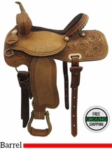 "PRICE REDUCED! 15"" Big Horn Medium Barrel Saddle 1934, Floor Model usbh3370 *Free Shipping*"