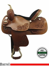 "PRICE REDUCED! 15"" Big Horn Medium Barrel Saddle 1935, Floor Model usbh3363 *Free Shipping*"