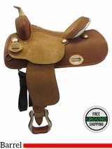 "PRICE REDUCED! 15"" Big Horn Wide Barrel Saddle 932685R, Floor Model usbh3365 *Free Shipping*"