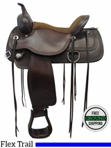 "PRICE REDUCED! 15"" Used Circle Y Wide Flex2 Trail Saddle 1651, Floor Model uscy3305 *Free Shipping*"