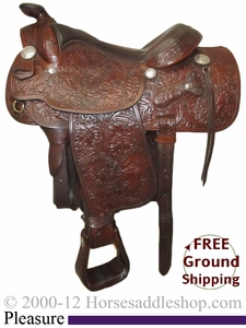 "PRICE REDUCED! 15"" Used Victor Saddlery Pleasure Saddle uscu2478 *Free Shipping*"