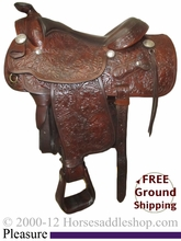 """SOLD 2014/08/10 $999 PRICE REDUCED! 15"""" Used Victor Saddlery Pleasure Saddle uscu2478 *Free Shipping*"""