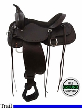 "PRICE REDUCED! 15"" Winchester High Horse Medium Trail Saddle 6819, Floor Model ushh3408 *Free Shipping*"