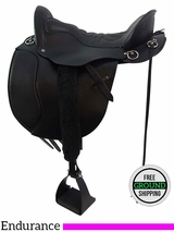 "SOLD 2016/04/11 PRICE REDUCED! 16.5"" Tucker Equitation Wide Endurance Trail Saddle 149, Floor Model ustk3414 *Free Shipping*"