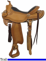 "** SALE ** PRICE REDUCED! 16"" Big Horn Texas Ranger Trail Saddle 937"