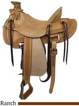 "PRICE REDUCED! 16"" Big Horn Wade Ranch Trail Saddle 867"
