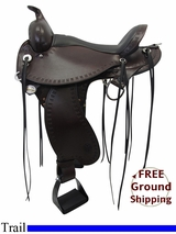 "PRICE REDUCED! 16"" Circle Y Flex2 Saddle Alabama Trail Gaiter 1581, Floor Model uscy3317 *Free Shipping*"