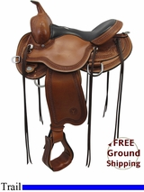 "SOLD 2015/11/24  15"" Circle Y Julie Goodnight Teton Trail Flex2 Saddle 1760, Floor Model uscy3312 *Free Shipping*"