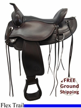 "PRICE REDUCED! 16"" Circle Y Omaha Wide Flex Tree Saddle 1554, Floor Model uscy3326 *Free Shipping*"