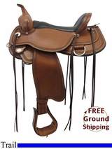 "PRICE REDUCED! 16"" Circle Y Pioneer Flex2 Trail Saddle 1665, Floor Model uscy3306 *Free Shipping*"