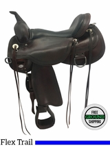 """PRICE REDUCED! 16"""" Circle Y Pioneer Wide Flex2 Trail Saddle 1665 uscy3699 *Free Shipping*"""