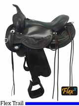 "PRICE REDUCED! 16"" Circle Y Wind River Wide Flex2 Trail Saddle 1750, Floor Model"