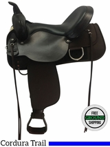 "PRICE REDUCED! 16"" High Horse Lockhart Cordura Wide Trail Saddle 6910, Floor Model"