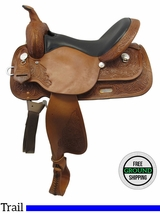 """SOLD 2016/09/17  PRICE REDUCED! 16"""" High Horse Mineral Wells Wide Trail Saddle 6812, Floor Model ushh3546 *Free Shipping*"""
