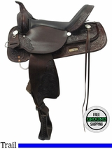 "PRICE REDUCED! 16"" High Horse Mineral Wells Wide Trail Saddle by Circle Y 6812 ushh3516 *Free Shipping*"