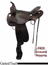 "PRICE REDUCED 16"" High Horse Round Rock Gaited Trail Saddle 6870, Floor Model ushh3318"