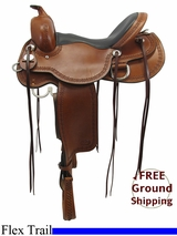 "PRICE REDUCED! 16"" Reinsman Wide Flex Trail Saddle 4137, Floor Model usrs3324 *Free Shipping*"