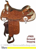 "PRICE REDUCED!  16"" Used Billy Cook Show Saddle usbi2406 *Free Shipping*"