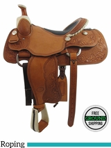 "PRICE REDUCED! 16"" Billy Cook Wide Roper Saddle 7535, Floor Model usbi3355 *Free Shipping*"