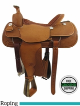 "PRICE REDUCED! 16"" Used Billy Cook Wide Roping Saddle 2082, Floor Model usbi3358 *Free Shipping*"