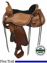 "PRICE REDUCED! 16"" Used Circle Y Pioneer Flex2 Trail Saddle 1665 uscy3517 *Free Shipping*"