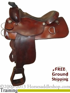 "SOLD 10/6/13 $630.80 PRICE REDUCED! 16"" Used Circle Y Training Saddle, Wide Tree uscy2501 *Free Shipping*"