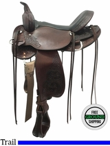 """ON HOLD 2016/10/12  PRICE REDUCED! 16"""" Used High Horse Oyster Creek Wide Trail Saddle 6808 ushh3603 *Free Shipping*"""