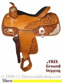 "PRICE REDUCED! 16"" Used Imperial Tex Tan Show Saddle ustt2413 *Free Shipping*"