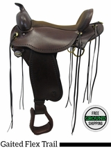 "PRICE REDUCED! 17"" Circle Y Missouri Flex2 Gaited Trail Saddle 1589, Floor Model uscy3309 *Free Shipping*"
