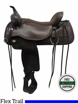 "SOLD 2016/06/13 PRICE REDUCED! 17"" Circle Y Wide Flex2 Saddle Topeka 1651, Floor Model uscy3418 *Free Shipping*"