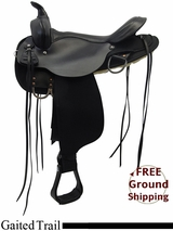 "PRICE REDUCED! 17"" High Horse 'El Campo' Cordura Gaited Trail Saddle 6970, Floor Model ushh3322 *Free Shipping*"