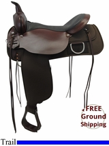 "PRICE REDUCED! 17"" High Horse 'Lockhart' Cordura Medium Trail Saddle 6910, Floor Model ushh3319 *Free Shipping*"