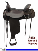 "PRICE REDUCED! 17"" High Horse 'Lockhart' Cordura Wide Trail Saddle 6910, Floor Model ushh3308 *Free Shipping*"