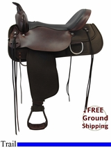 "PRICE REDUCED! 17"" High Horse 'Lockhart' Cordura Trail Saddle 6910, Floor Model ushh3314 *Free Shipping*"