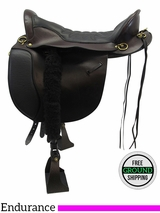 "PRICE REDUCED! 18.5"" Tucker Equitation Medium Endurance Trail Saddle 149, Floor Model ustk3325 *Free Shipping*"