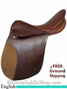 "PRICE REDUCED! 18.5"" Used Stubben English Saddle, Wide Tree usen2528 *Free Shipping*"