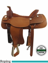 "PRICE REDUCED! 18"" Used Billy Cook Wide Roper Saddle 2082, Floor Model usbi3356 *Free Shipping*"