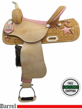 "PRICE REDUCED - New 15"" American Saddlery 845 Barrel Saddle usam3139 *Free Shipping*"