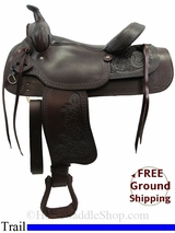 "PRICE REDUCED - New 15"" American Saddlery Texas Best Del Rio 950 Trail Saddle, Wide Tree usam3137 *Free Shipping*"