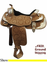 "PRICE REDUCED - New 16"" American Saddlery 1941 Show Saddle, Wide Tree usam3167 *Free Shipping*"