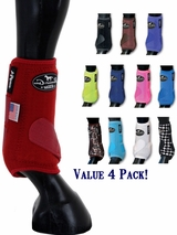 Professional's Choice VanTECH Elite Sports Medicine Boot VEFM, Front & Rear 4 Pack