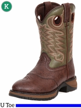 Rebel by Durango Boy's Dusk & Green Saddle Western Boot bt306 Size 3.5 - 6