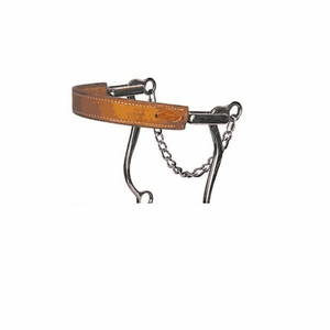 Reinsman Mechanical Hackamore Flat Leather Nose 951