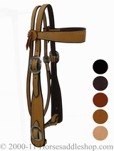 Rocking R Cowboy Headstall 400 with Split Reins