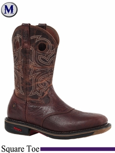 DISCONTINUED 2015/01/08 Rocky Men's RIDE Steel Toe Western Work Boot 6187
