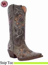 DISCONTINUED 2015/01/08 Rocky Women's HandHewn Snip Toe Western Boot 5234