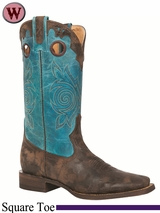 Rocky Women's HandHewn Square Toe Western Boot 5232
