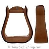 Saddle Stirrups Light Oil Leather Covered Stirrups stjt57-98300