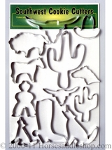 Set of 12 Western Cookie Cutters 87-9100